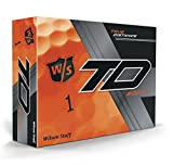 Wilson Staff True Distance Soft Orange Golfbälle, 1 Dutzend, 12 Bälle, Herren