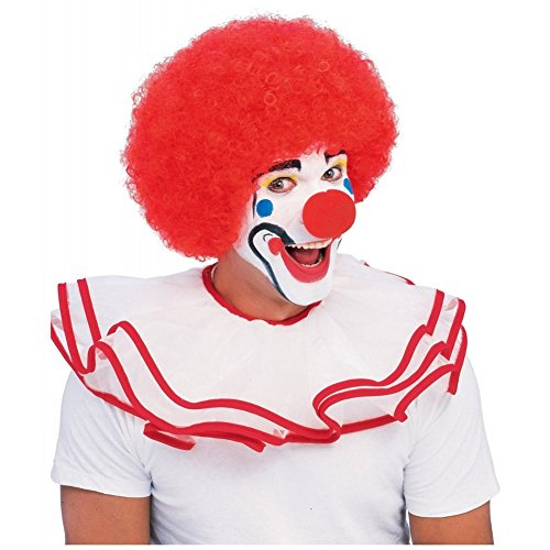 Ronald McDonald McDonalds Wavy Red Clown Perücke Kostüm Herren Halloween (Ronald Mcdonald Clown Kostüm)