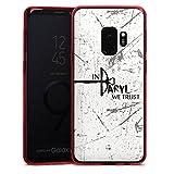 DeinDesign Samsung Galaxy S9 Slim Case transparent rot Silikon Hülle Schutzhülle The Walking Dead Filme und Serien Daryl Dixon