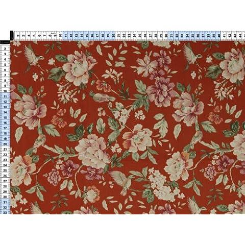 Tessuto da tappezzeria, rivestimento in tessuto, tessuto da tappezzeria, tessuto, tessuto della tenda, tessuto stampato - Potpourri II, Linotte, purple - magico con fiori e uccelli in robusto tessuto misto - Uccello Rivestimento In Tessuto