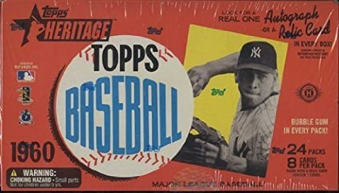 1 (One) Box - 2009 Topps Heritage Baseball Cards HOBBY Box (24 Packs) by Topps