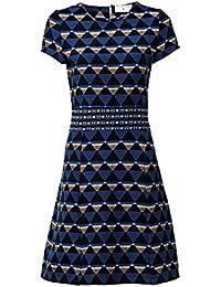 be94357a30bf RICK CARDONA Robe Jacquard Genou Longueur Graphique-Look Femmes Bleu par  Heine