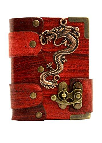 figura-asai-chino-en-una-agenda-de-piel-rojo-bloc-de-notas-cuaderno-diario-bloc-de-dibujo-hecho-a-ma