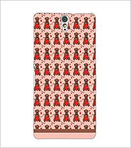 PrintDhaba Love Teddy Pattern D-1603 Back Case Cover for SONY XPERIA C5 ULTRA (Multi-Coloured)