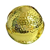 MagiDeal Zinklegierung Windaschenbecher Drehaschenbecher Zigaretten Aschenbecher Drehascher, Golfball Form - Gold