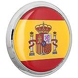 Fan Emblems Emblema del coche 3D de la bandera española abovedado / multicolor / cromo, insignia automotriz de la etiqueta engomada se dobla para adherirse completamente a los coches, a los carros, a las motocicletas, a los ordenadores portátiles, a Windows, casi a cualquier cosa