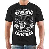 Männer und Herren T-Shirt Biker Du wirst alt wenn du aufhörst zu Biken (mit Rückendruck) Größe...