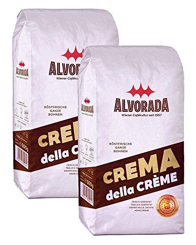 Alvorada, ganze Bohne, Crema della Crème, 2 x 500g (Kaffeebohnen Wien, Ganze Bohne)