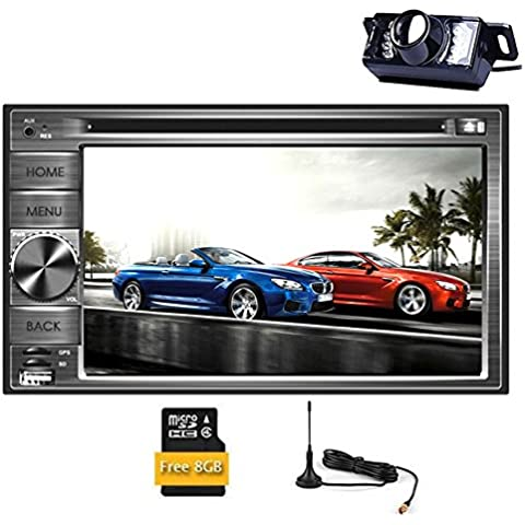 Autoradio Audio BT Musica RDS Universale 2 DIN Video Car DVD Player Automotive Radio Monitor In Deck Car Stereo RDS costruito nel fotocamera DVB-T ISDB-T TV digitale