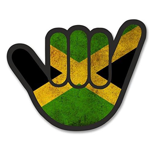 Preisvergleich Produktbild 2 x 20cm/200mm Jamaika Flagge Shocker Vinyl SELBSTKLEBENDE STICKER Aufkleber Laptop reisen Gepäckwagen iPad Zeichen Spaß #6183