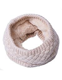 89545eabf5e0d9 Winter Loop Schal Damen Schlauchschal Rundschal Herren Loopshal Mit Pelz  Wolle Schals Warme