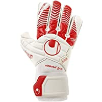 Uhlsport Eliminator Absolutgrip Guantes, Blanco/Rojo, 9