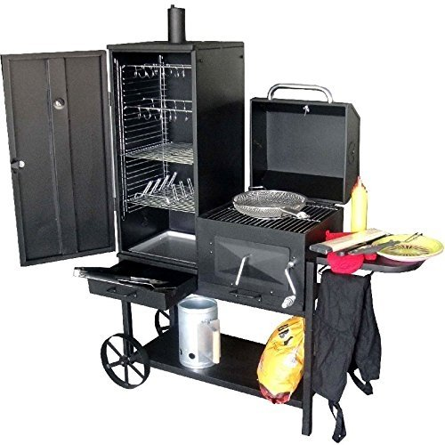 Syntrox Germany Smoker Bovini 2�Barbecue BBQ Grill Smoker Charcoal Barbecue with Wheels