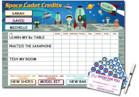 space-cadet-credits-reward-star-chart-massive-61cm-x-40cm-for-upto-3-children
