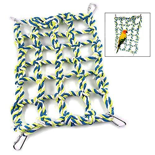 LHKJ Kleine Tier Gitter Hängematte, Hamster Papageien Kletterseil Netz Vogelschaukel Hängekäfig Spielzeug Kleintiere Spielzeug