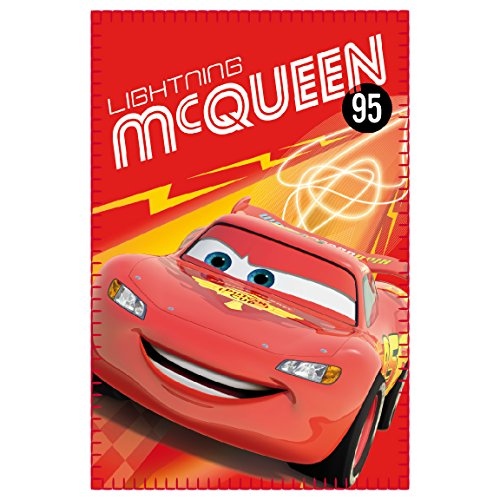 "Image of Disney 2200001650 150 x 100 cm ""Cars Lightning McQueen Polar Fleece"" Blanket"