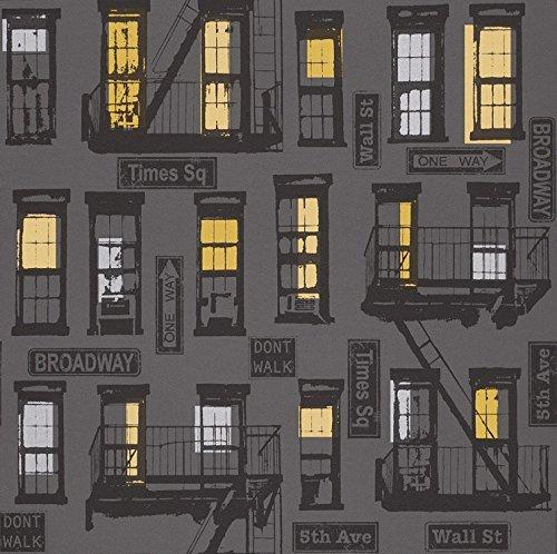 rasch-portfolio-new-york-urban-motif-black-charcoal-silver-print-wallpaper-281507