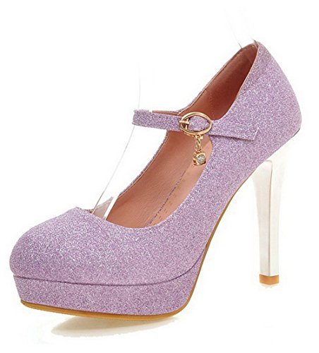allhqfashion-womens-solid-soft-material-high-heels-buckle-round-closed-toe-pumps-shoes-purple-41