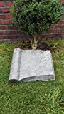Grabstein Buch inkl. Inschrift 50x40x10 cm Material: Karawa