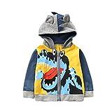 Kleider Kinderbekleidung Honestyi Baby Kind scherzt Jungen Mädchen Karikatur Tier mit Kapuze Mantel Mantel Oberseiten warme Kleidung (Gelb,80)