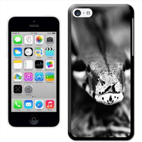 Fancy A Snuggle 'Snake 's Head schwarz und weiß' Hard Case Clip On Back Cover für Apple iPhone 5C Snake'S Head Black & White