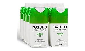 Sostituto Pasto per Peso Forma SATURO, Originale, Senza Glutine & Senza Lattosio, 330 kcal, Confezione da 8, Pronto da Consumare