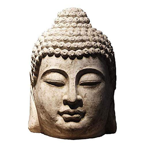 PLDDY Adornos Suerte Adornos Grandes Apertura de Regalos Buda Estatua de Buda Adornos de Cabeza de Buda Salón Club Feng Shui Muebles Zen 40 cm * 36 cm * 63 cm
