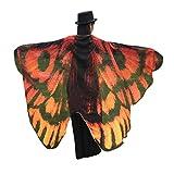 BYSTE Donne Ali delle Farfalle Scialle sciarpe Le signore Nymph Pixie Pavone Poncho Costume Accessorio (caffè)