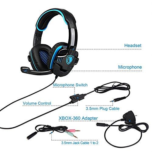 oevan sa708gt 3.5mm gaming cuffie con microfono cancellazione del suono  musica gioco cuffia per ps4 xbox 360 compresse pc di telefoni cellulari.  Visualizza ... ebe08a216622