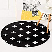 NO BRAND KDYSMWD Round Carpet Living Room Tropical Bedroom Bathroom Decor Carpet Chair Carpet Bathroom Bathroom Decoration Non-Slip Door Mat