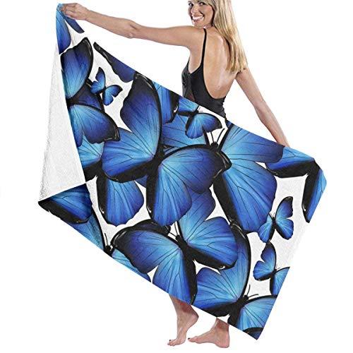 Gebrb Duschtücher/Badetücher,Strandtücher, Microfiber Travel & Beach Towel,Camping Towel, Gym Towel, Sports Towel, Swimming Towel - Beautiful Butterfly Print 31x51 Inches