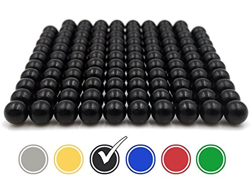ODEEN Mini Magnete 108*Stück - NEODYM - ULTRASTARK- 5 mm – Extra Starke Kleine Mini-Magnete für Whiteboard, Kühlschrank, Magnettafel, Magnetstreifen, Pinnwand und für die Werkstatt (Schwarz 5 x 5 x 5 mm)