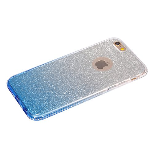 iPhone 6S Hülle,iPhone 6 Hülle,iPhone 6 / 6S TPU Silikon Hülle,ikasus® Handy-Hülle Weich TPU Silikon Handy Hülle Case Tasche Schutz für Apple iPhone 6 / 6S (4,7 Zoll) Silikon Hülle Color Gradient Luxu Blau