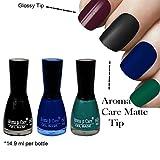 #9: Aroma Care Velvet Matte Nail Polish Black, Blue and Green Colors ( 14.9 ml per bottle)