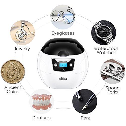 Ultraschallreiniger, Kealive 750ml Ultraschall-Schmuckreiniger mit Sonic und Digital-Timer für Schmuck, Brillen, Zahnersatz, Uhren, Münzen Linsen im täglichen Heimgebrauch