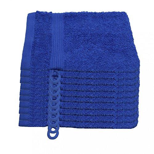 Julie Julsen 10er Pack Waschlappen 23 Farben erhältlich weich und saugstark 500gsm Öko Tex Royalblau 15 x 21 cm