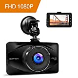 APEMAN 1080P FHD In Car Dash Cam Camera Metal DVR Digital Driving Video Recorder 3 inch LCD Screen 170°Wide Angle 6G Lens with WDR, Loop Recording, G-sensor, Parking Monitoring, Motion Detection