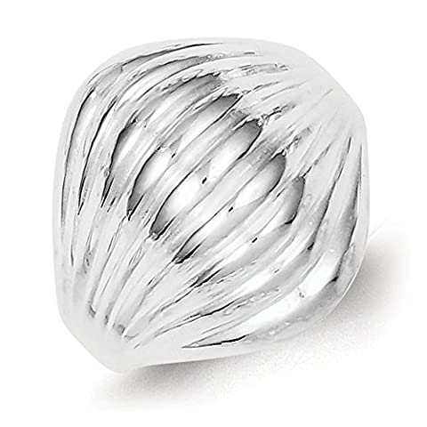 Sterling Silver Solid Domed Ring - Size P