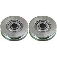 17 6mm 695zz U Groove F/ührungsrolle Sealed Rail Kugellager Nylon eingebettet Winwill/® 4Pcs 5