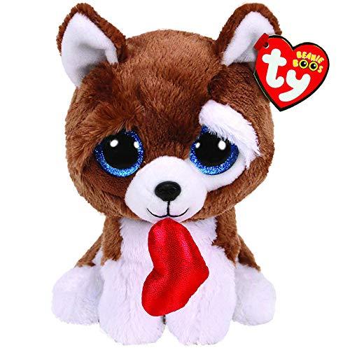 lzpoyaya Cartoon Valentine Hund mit Herz Plüschtier für Kinder, Kuscheltier Puppen, weiche Baumwolle Kissen, Geburtstagsgeschenk für Kinder 6