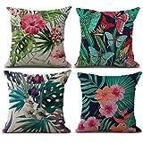Ears Happy Halloween 4PC Pillow Cases Linen Sofa Cushion Cover Home Decor (A)