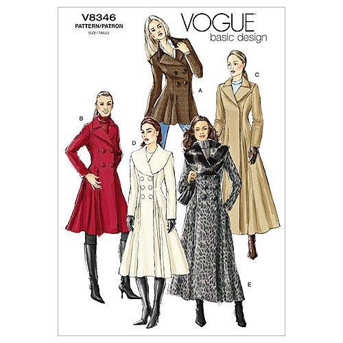 Vogue V8346 VGE FW(18-22) Schnittmuster zum Nähen, Elegant, Extravagant, Modisch