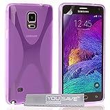 Yousave Accessories X-Ligne Coque en gel/silicone pour Samsung Galaxy Note 4 Violet
