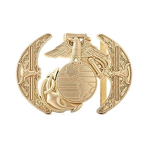 Gurscour Fashion Western Antique Brass Engraved Flower Bird of Prey 3D Eagle Belt Buckle
