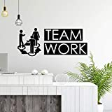 WWYJN Teamwork Quote Decal Vinyl Office Decor Wall Sticker Business Success Work Inspiration...