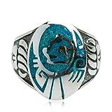 Aundiz 925 Silber Ring für Herren Opal Indisch 16.8 Gramm Gewicht Size 62 (19.7) Ringe