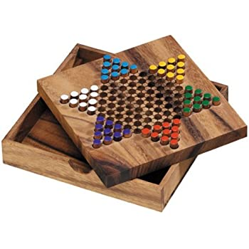 Handmade Indian Wooden Solitaire Board Game With Stainless