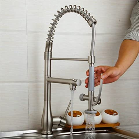 zmade nichel spazzolato lavello con rubinetto nave rubinetto miscelatore girevole doppia Beccucci estraibile cucina rubinetto