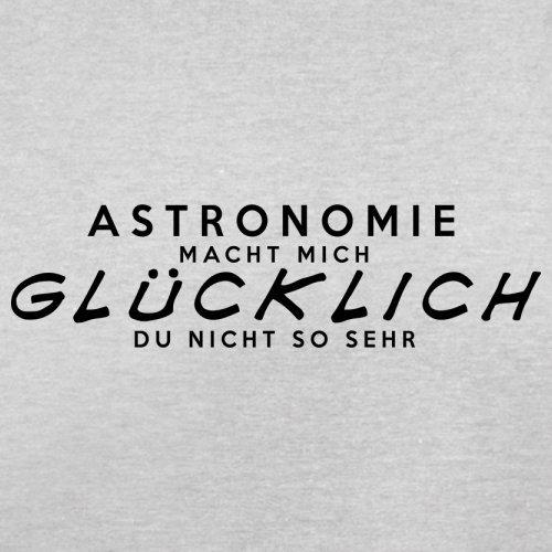 Astronomie macht mich glücklich - Herren T-Shirt - 13 Farben Hellgrau