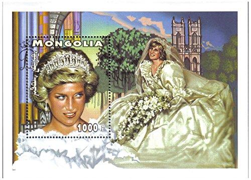Principessa Diana foglio di francobolli in miniatura